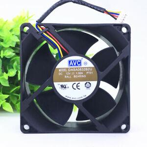 AVC DASA0832B2U 8032 DC12V 8CM 4-pin PWM speed Large air volume inverter fan