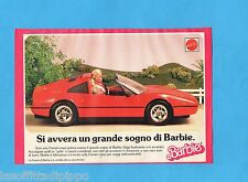 TOP989-PUBBLICITA'/ADVERTISING-1989- MATTEL - LA FERRARI DI BARBIE
