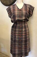 Pendleton Inspired Vintage RetrWomen's Small Dress A-Line Plaid Made in USA EUC!