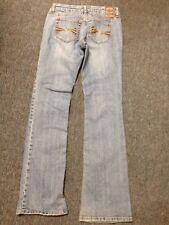 American Rag Size 1 R Cotton Spandex Light Wash Jeans Brown Pocket Curvy Fit