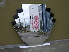 Wall Mirror Art Deco W/Black Bevilled Acc 1000mm  $325 NOW $275.00 Limited Time