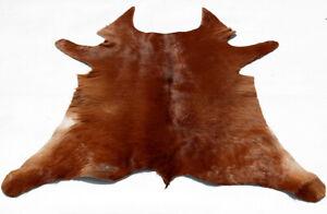 """Rare Cowhide Rugs Calf Hide Cow Skin Rug (31""""x34"""") Soft Brown CH8425"""