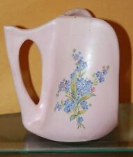 Old Pink Forget Me Not Flower Candle Holder Shabby Cottage Chic Art Pottery