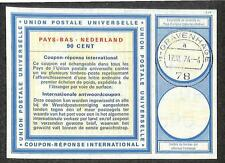 IRC INTERNATIONAL REPLY COUPON NETHERLANDS 90 CENT TYPE C2 1974