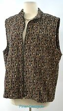 Chicos jungle zip up vest top sleeveless coat tapestry cheetah Chico 3 L XL New