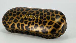 GUESS Hard Clamshell Eyeglass Case - Leopard Print