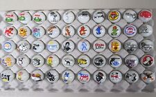 50 Advertising & Cartoon Logo 1 Inch Marbles Great For Collecting / Resale lot B