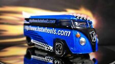 HOT WHEELS BLUE & WHITE VOLKSWAGEN DRAG BUS LIMITED EDITION HOT WHEELS.COM