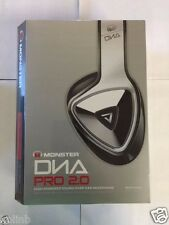 Monster DNA Pro 2.0 Noise Isolating Over-Ear Headphones White Tuxedo NEW!