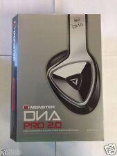 Monster DNA Pro 2.0 Noise Isolating Over-Ear Headphones White Tuxedo NEW!