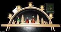 "Handmade Wood Nativity Candle Arch Germany Erzgebirge Glasser Christmas 13"" New"