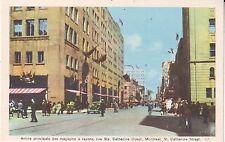 Canada Montreal - Rue Ste. Catherine circa 1940 unused postcard