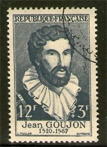 TIMBRE N° 1067 OBLITERE TTB - JEAN GOUJON - SCULPTEUR
