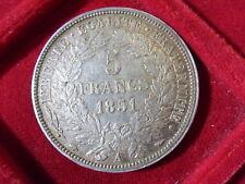 FRANCE FRANCIA 5 FRANCHI FR 1850 PARIS PARIGI SILVER cod. FRANCIA-80