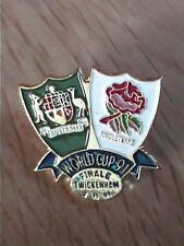 PINS BADGE FINAL AUSTRALIA Vs ENGLAND RUGBY WORLD CUP 1991 - TWICKENHAM