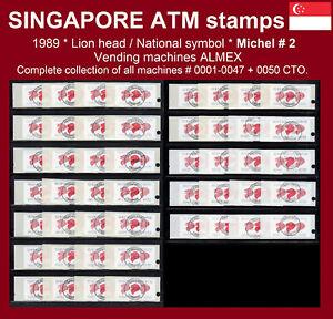 Singapore ATM stamps 2 / 1989 / Lions / series 0001-0047 + 0050 CTO / Frama CVP