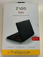 "ZAGG Folio Case with Backlit Keyboard for Verizon Ellipsis 10"" HD Tablet Black"