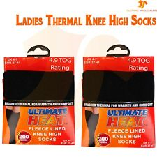 Ladies Black Thermal Knee High Socks Tights Leg Warmers Winter Warm 200D Thick