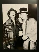 Stevie Ray Vaughan Photograph With Mick Jagger