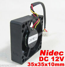 10pcs Nidec D03P-12TS3 35x35x10mm 3510 12V 0.9A DC Cooling Fan 3pin Connector UK