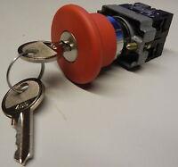 Notausschalter Schlüsselschalter 2 Konakte NC Telemecanique ZB2 BS14 BZ102 BE102