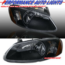 Pair OE Style Black Headlights for 01-04 Stratus 01-03 Sebring 4Dr & Convertible
