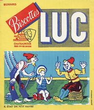 BUVARD PUBLICITAIRE / BISCOTTES LUC / CHATEAUROUX / IL ETAIT UN PETIT NAVIRE
