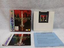 Shadowgate Classic AUSTRALIAN variant Nintendo Gameboy Color WORKS! Game Boy