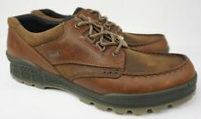 Ecco Track 25 Men's Leather Waterproof Moc Toe Derby Brown Shoes Size 50 / 16 US