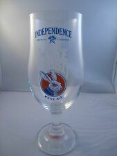 Independence Brewery White Rabbit Stemmed Beer Glass Very Rare Austin TX Craft