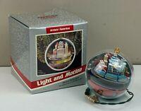1989 Hallmark Keepsake Light and Motion Ornament Metro Express by Linda Sickman