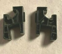 Pair 2 Dual United Audio 1218 Turntable Base Dust Cover DC-15 HINGE 1225 1226