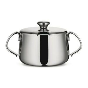 """Alessi """"104/20 Ufficio Tecnico"""" Polished Stainless Steel Sugar Bowl with Lid"""