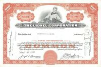 The Lionel Corporation Common 100 Stock Certificate 1960's Toy Train Engraving