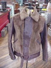 1930s Full Grizzly Jacket Horsehide Leather Old Elm Brand Denver Colorado