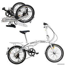 "20"" Faltrad Klappfahrrad faltbar Silber Fahrrad Shimano Sports Bike Erwachsene"