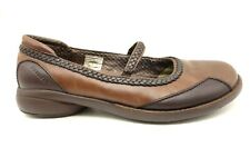 Merrell Brown Leather Braided Mary Jane Casual Loafers Shoes Women's 10
