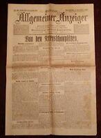 Erfurter Allgemeiner Indicador 4. Diciembre 1915 Histórico Diario 1. Weltkrieg