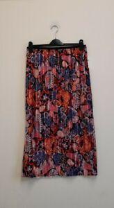 Anthropologie Maeve Tilda Pleated Velvet Midi Skirt size S {Z171}