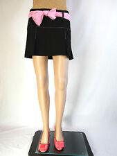 Italian Womens Vtg 90s Retro Casual Black School Girl Mini Short Skirt sz L AQ18