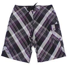 Oakley Helio Purple Plaid Boardshort Size 34 L Mens Casual Beach Boardies Shorts