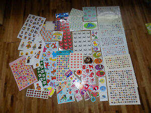Stickers Vintage Scapbooking Lego Disney Princess Sesame Dr Seuss sticker lot