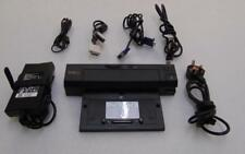 Dell PRO2X E-Port Plus Docking Station USB 3.0 with power supply & display leads