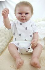 "22"" Boy Washable Newborn Toddler Bebe Doll Full Body Silicone Reborn Baby Unique"