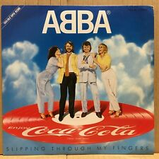 "ABBA COCA-COLA SLIPPING THROUGH MY FINGERS 7"" Picture Disc Orig JAPAN ISSUE"