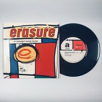 """Erasure - It Doesn't Have To Be (1987) 7"""" Single Vinyl Record Mute 56"""