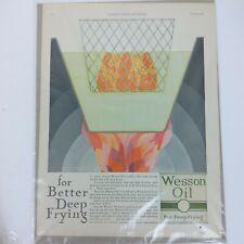 1920s Wesson Oil deep fryer Large Vtg Print magazine Ad