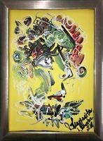 Margarita Bonke Zeichnung Malerei Abstrakt abstract Porträt Face art A4 Kunst