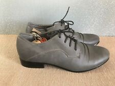 BNWT Ladies Sz 5 Rivers Brand Grey Casual Leather look Lace up Work Dress shoes