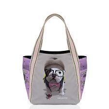 Teo Jasmin French British English Bulldog Medium Tote Handbag Shopper College